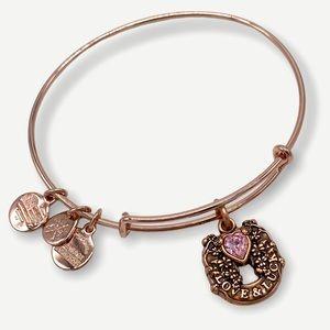 Alex & Ani Love and Luck Charm Bangle Bracelet